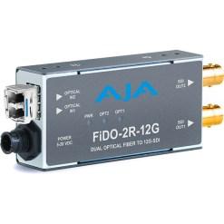 AJA FiDO-2R-12G - Convertisseur 2 canaux Single Mode LC Fiber vers 12G-SDI/LG