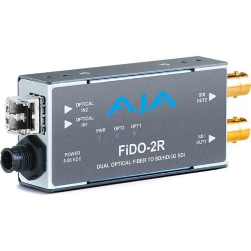 AJA FiDO-2R-MM - Convertisseur 2 canaux Multi-Mode LC Fiber vers 3G-SDI
