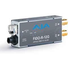 Aja FIDO-R-12G - convertisseur 1 canal Fiber vers 12G-SDI/LG