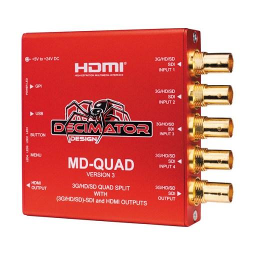 Decimator Quad 3G/HD/SD-SDI - boîtier multiviewer