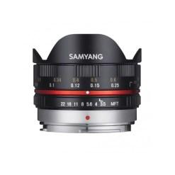 Samyang 7,5mm F3,5 UMC Fisheye (Micro 4/3) Noir - Objectif