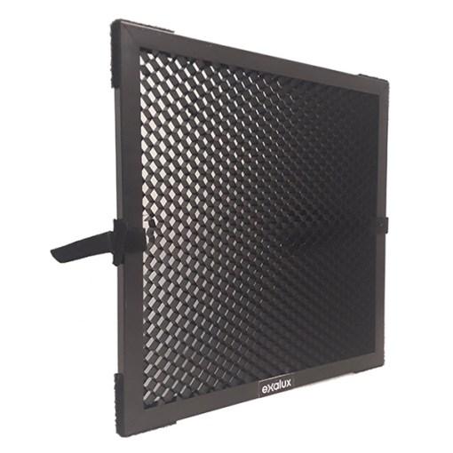 Exalux Nid d'Abeille Aluminium 45° pour LEDZEP 1X2 - Accessoire Lumière