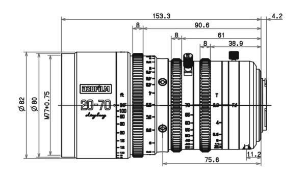Dzofilm 20-70mm T2.9 monture Micro 4/3 impérial - Objectif Cinéma