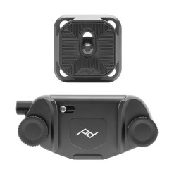 Peak Design Capture camera clip - support APN avec plateau - argent