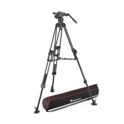 MANFROTTO TREPIED CARBONE FAST TWIN AVEC ROTULE NITROTECH 608