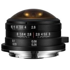 Laowa 4mm F2.8 Fisheye circulaire Canon EF-M – Objectif