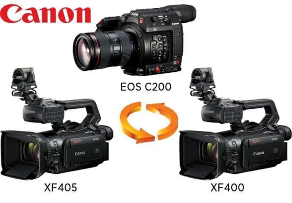 Nouveau firmware disponible pour CANON EOS C200, XF400 et XF405
