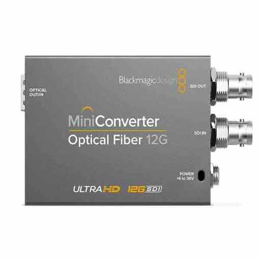 MINI CONVERTISSEUR FIBRE OPTIQUE BLACKMAGIC 12G