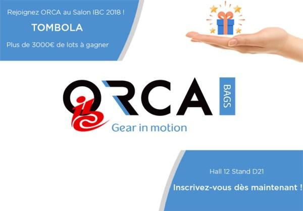 ORCA Bags : nouveautés et tombola à l'IBC 2018 !