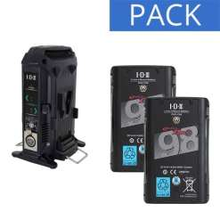 IDX 2 Batteries Endura DUO-C98 & Chargeur VL-2X - Kit Batteries et Chargeur