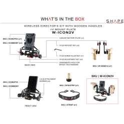 SHAPE Wireless Director's Kit with Wooden Handles