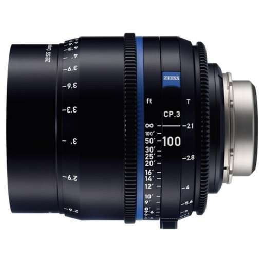 ZEISS CP.3 100mm T2.1 Monture F Impérial - Objectif Prime