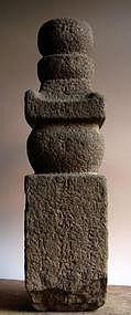 Stone Gorinto (5-Tiered Stupa) Buddha Jizo Muromachi