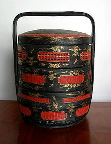 chinese black red and