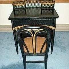 Heywood Wakefield Wicker Chairs Plus Size Folding Uk Desk Set Item 533700