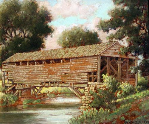 Pennsylvania Covered Bridge By Benson Bond Moore American