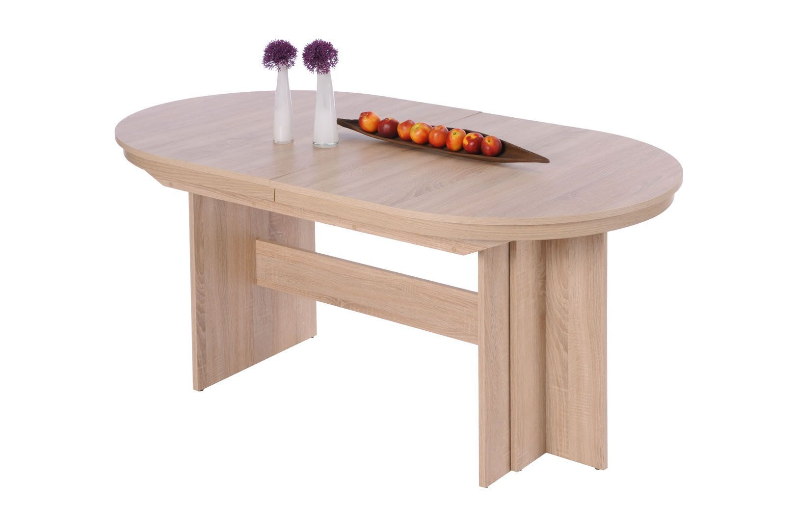 table ovale avec allonge 160 310 cm raby chene