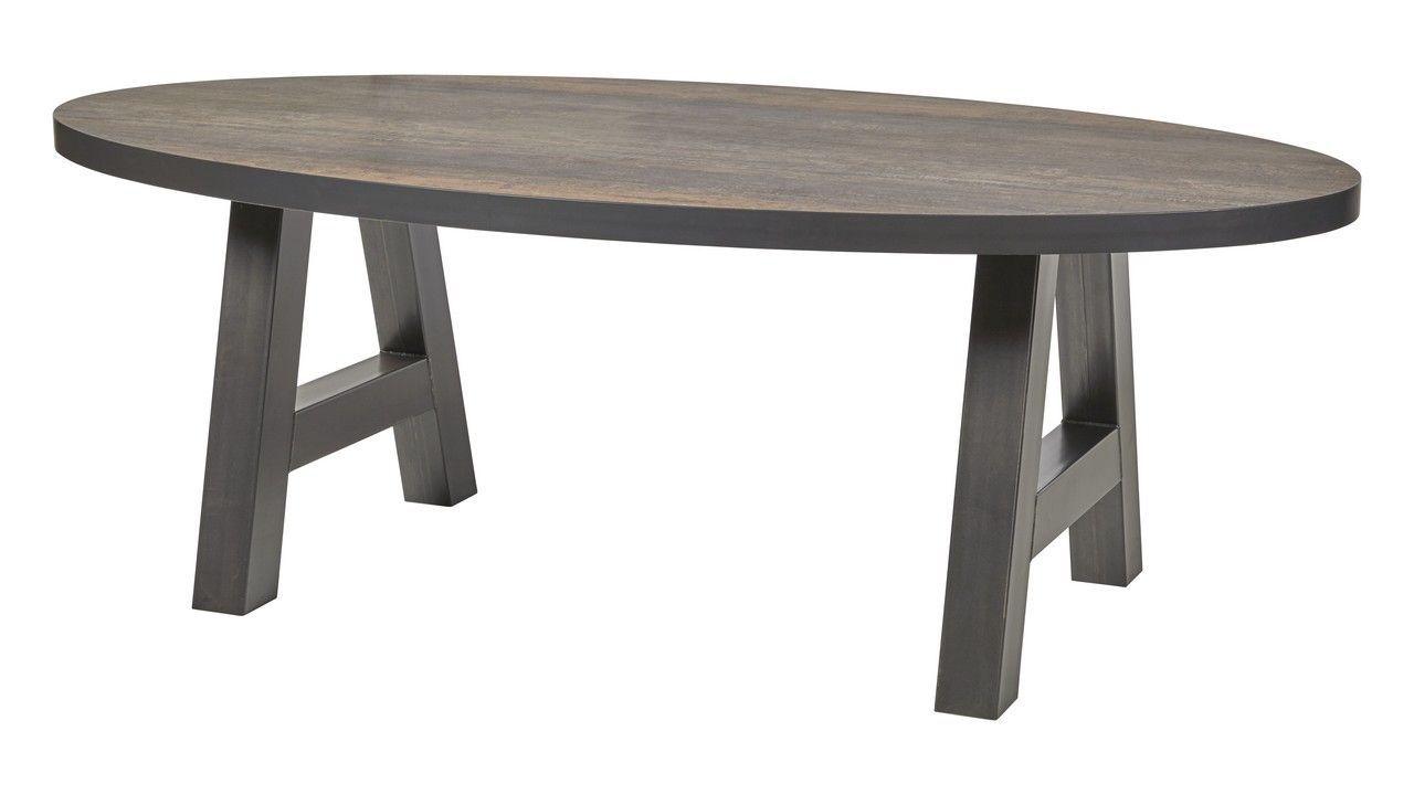 table de salle a manger ovale avec pieds en a couleur noir