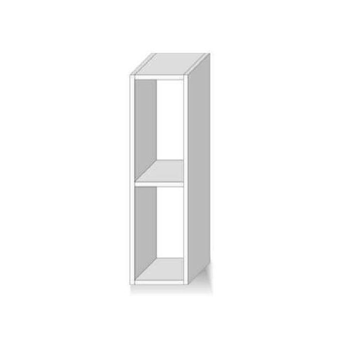 meuble haut de cuisine ouvert 1 etagere wenge dax