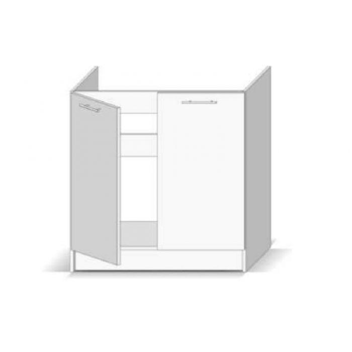 meuble sous evier 2 portes gris dieppe