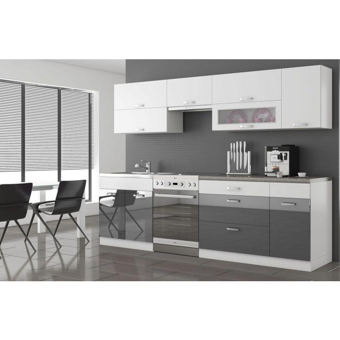 meuble haut de cuisine 15 cm ouvert 1 etagere firminy blanc