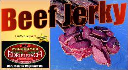 2Kg Beef Jerky Trockenfleisch Eigene Herstellung 4 Sorten gemischt am Stück/Stix