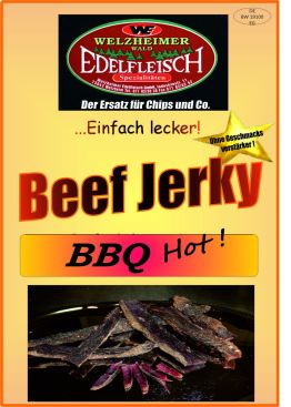 1 Kg Biltong Trockenfleisch Beef Jerky BBQ Hot!  Würzung