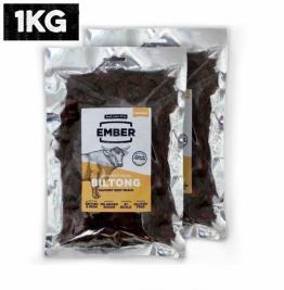 Ember Biltong Wiederverschließbarer 1Kg Großbeutel - Beef Jerky Original - Pro