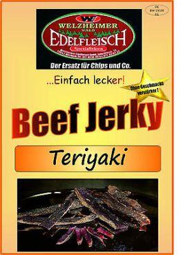 100 Gramm Biltong Beef Jerky Trockenfleisch Teriyaki Probierpackung Am Stück