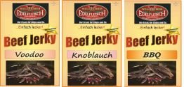 900 Gramm Biltong Trockenfleisch Voodoo+Knoblauch+BBQ am Stück / STIX