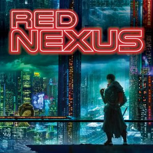 vista of a cyberpunk city, cover image