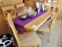 Esstisch mit 5 Stühlen Holz hell