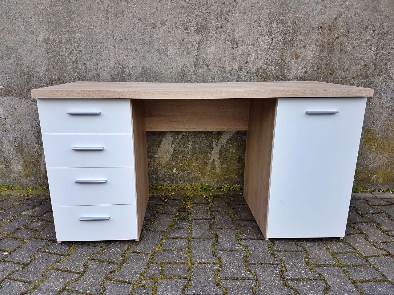 Schreibtisch Holz/weiss modern