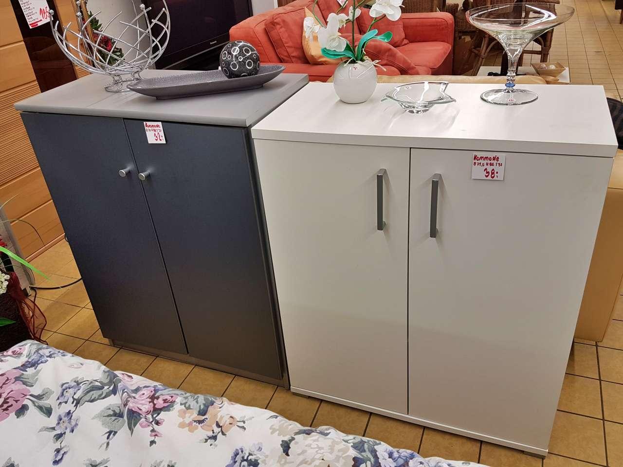 Kommode Wäschekommode anthrazit weiß modern