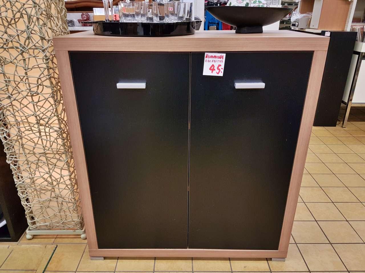 Kommode Wäschekommode Holz schwarz modern