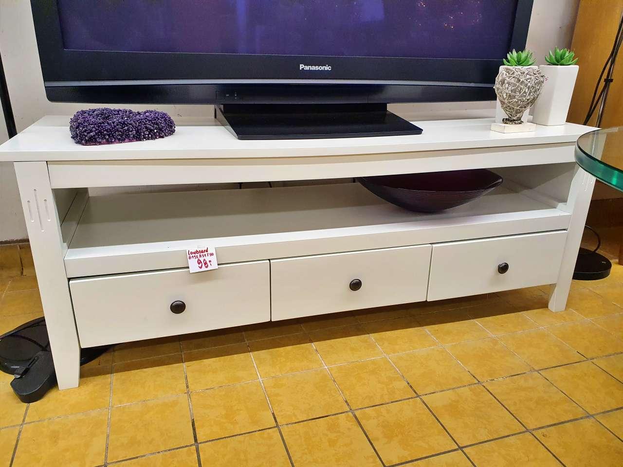 Lowboard TV-Board modern Holz weiss