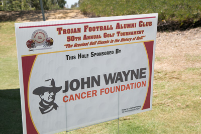 TFAC Golf Classic Tee Sign John Wayne Cancer Foundation