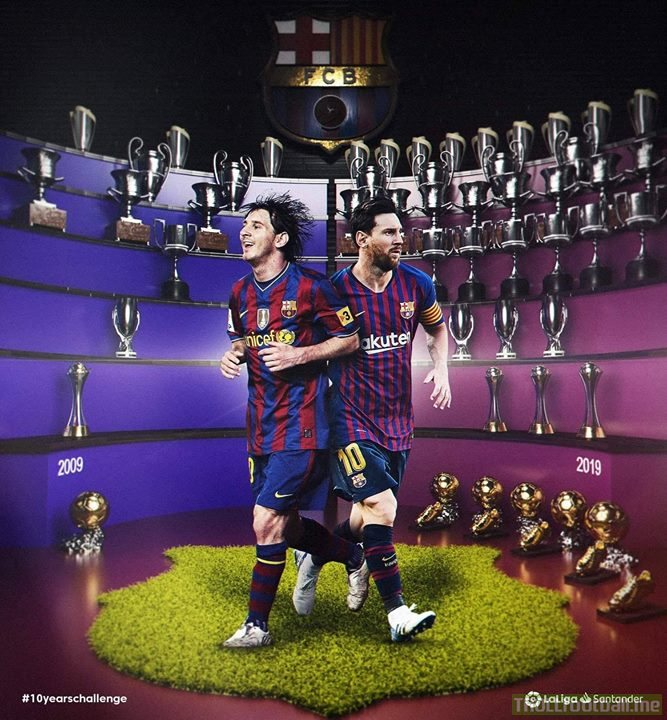 Lionel Messi has filled his trophy room!! 10YearChallenge | Troll ...