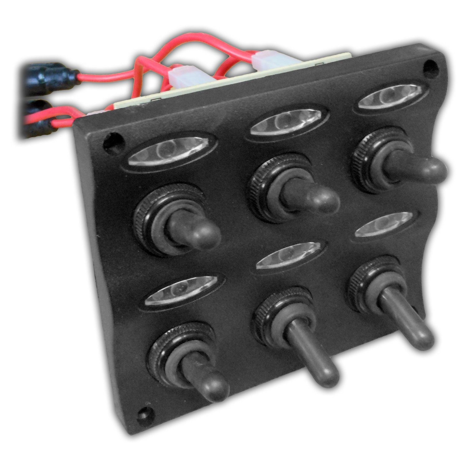 Marine Electric 6 Gang Led Toggle Switch Panel for Boat and Rvs Five Oceans best marine toggle and rocker switch panel 2017 reviews Marine Fuse Terminal Block at panicattacktreatment.co