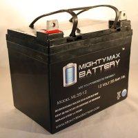 12V 35AH SLA Battery for Minn Kota Endura C2 - Trolling Motor - Mighty Max Battery brand product