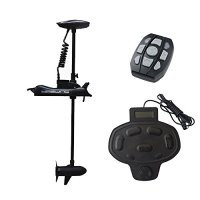 Aquos Haswing CaymanB Bow Mount Electric Trolling Motor 12V 55 Lbs Thrust with Wired Foot Control … (black)