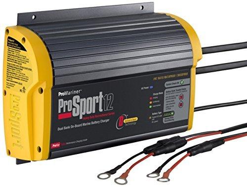 Promariner 43012 Prosport 12 12 Amp  12  24 Volt  2 Bank Generation 3 Battery Charger