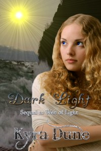 Cover art for Dark Light, the second book of the Web of Light YA Fantasy duology by Kyra Dune.
