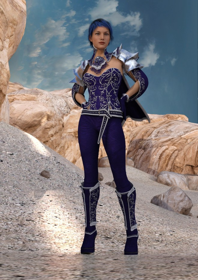 My First Render Using the New Genesis 3 Female Figure