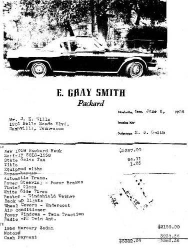1958 Packard Hawk Gran Turismo