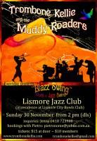 Poster Gig Lismore Jazz Club - Kellie Gang & the Muddy Roaders