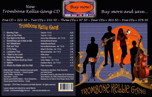 Trombone Kellie New CD SALE