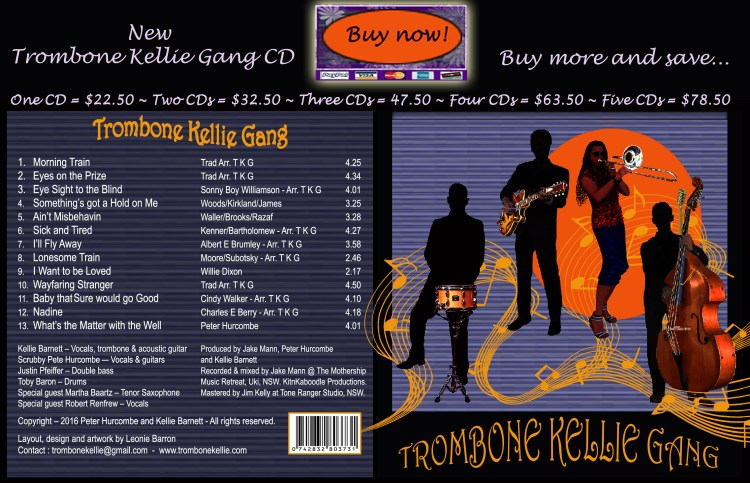 Trombone Kellie New CD SALE