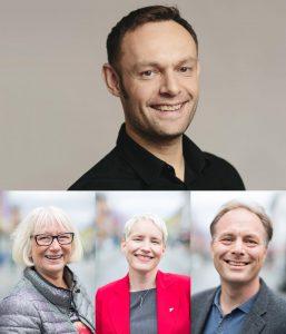 BLi med på SV-laget sammen med Torgeir Knag Fylkesnes, Gunhild Johansen, Ingrid Marie Kielland, Pål Julius Skogholt og mer enn 200 andre SVere i Tromsø.