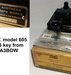 a unused g n t great northern telegraph works model 605 key serial no 137772 these keys were made from around 1948 up to 1969 donated by om dejan  [ 1024 x 768 Pixel ]